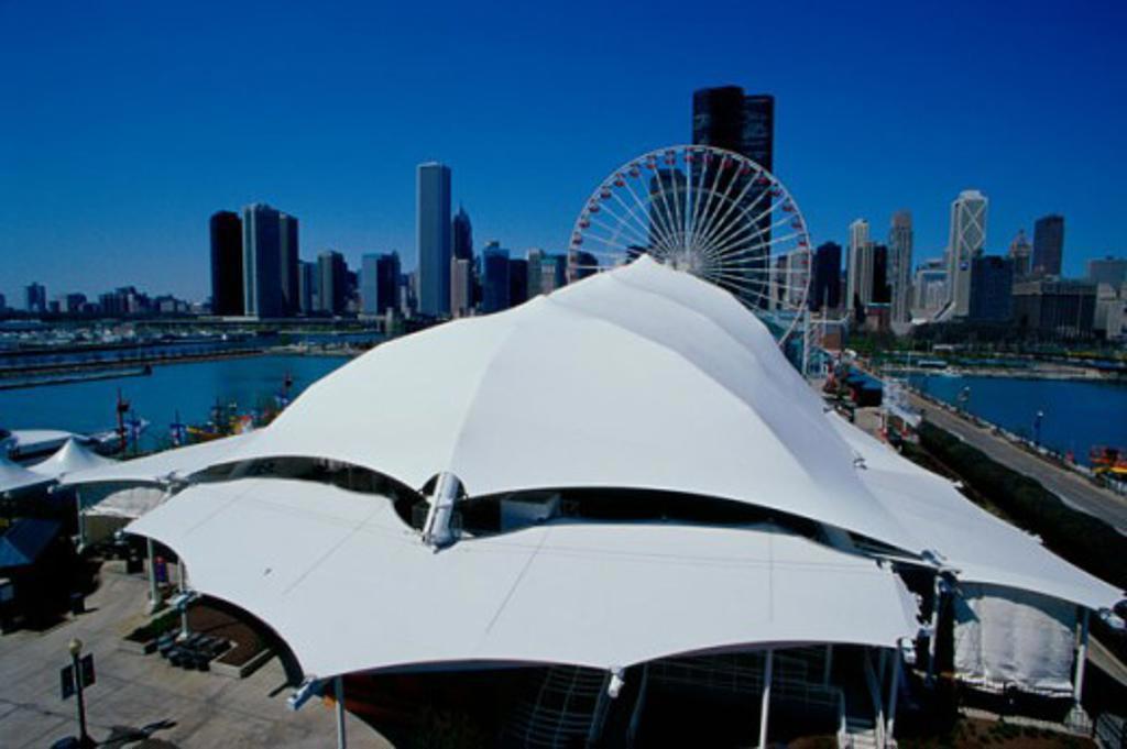 Stock Photo: 1486-3573 Navy Pier Chicago Illinois USA