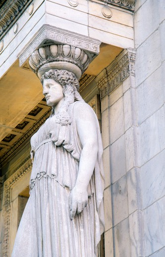 USA, Illinois, Chicago, Field Museum, caryatid : Stock Photo