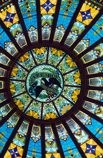 Details of the cupola of a government building, Illinois State Capitol, Springfield, Illinois, USA : Stock Photo