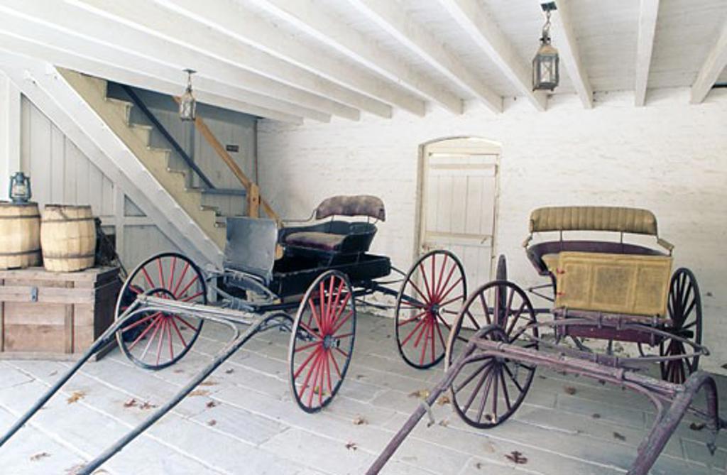 USA, Georgia, Stone Mountain Park, traditional carts : Stock Photo