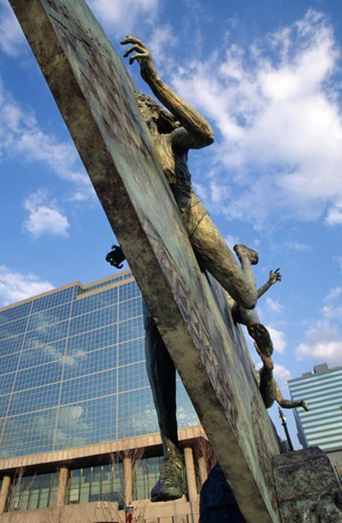 USA, Georgia, Atlanta, Centennial Olympic Park, tribute sculpture : Stock Photo