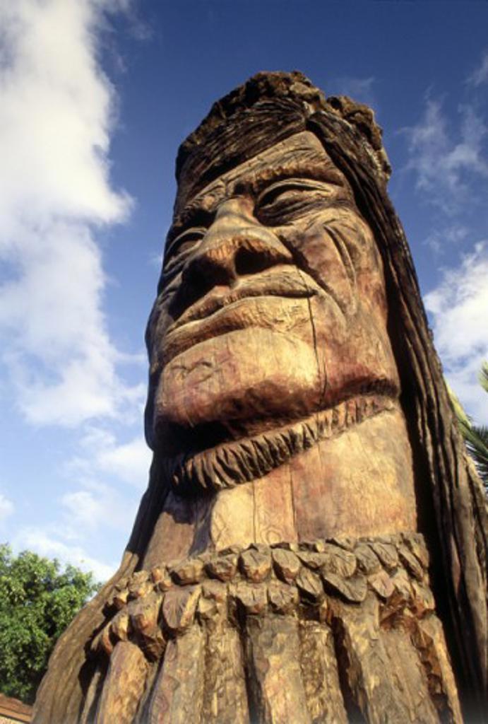 Stock Photo: 1486-3907 Maui Pohaku Loa Carving Oahu Hawaii USA