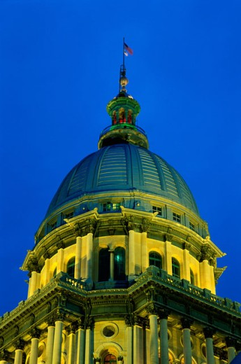 Low angle view of the State Capitol, Springfield, Illinois, USA : Stock Photo