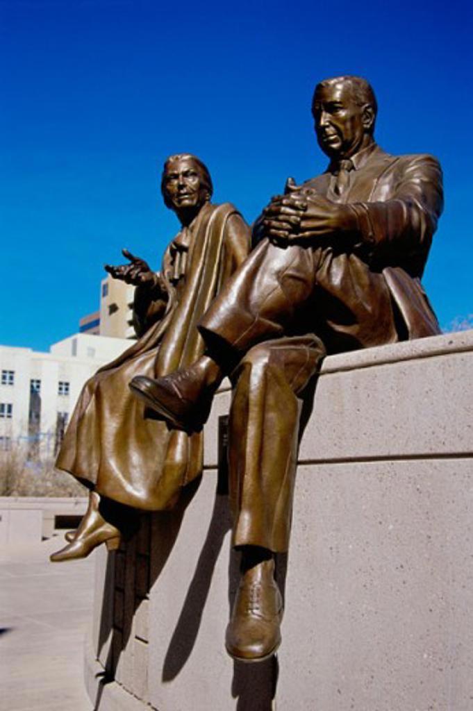 El Senador Sculpture Albuquerque New Mexico : Stock Photo