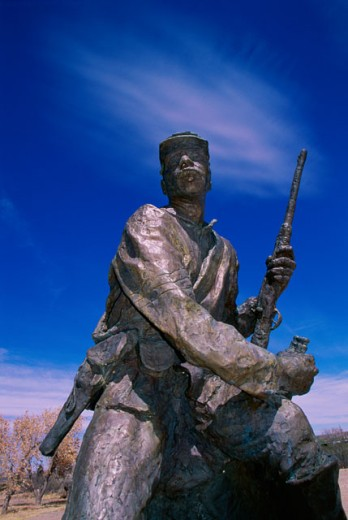 Stock Photo: 1486-4116 Buffalo Soldier Statue