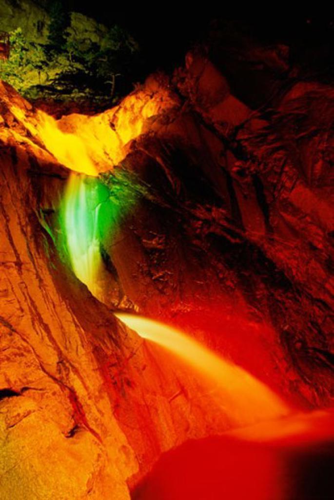 Stock Photo: 1486-4190 Seven Falls Park Colorado Springs Colorado USA