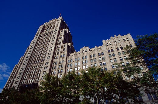 Low angle view of a building, Fisher Building, Detroit, Michigan, USA : Stock Photo