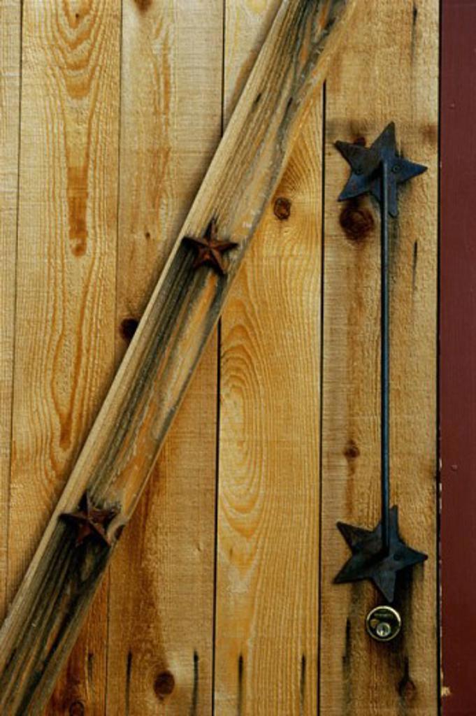 Close-up of a wooden door : Stock Photo