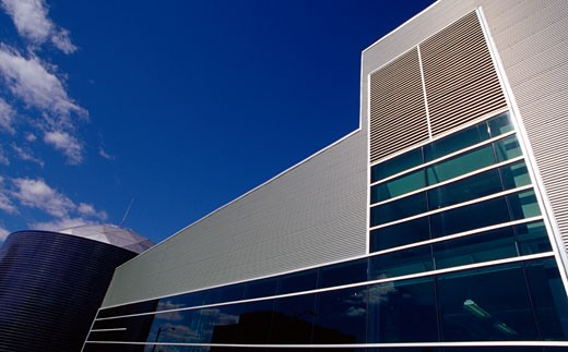 Low angle view of a science center, Detroit Science Center, Detroit, Michigan, USA : Stock Photo