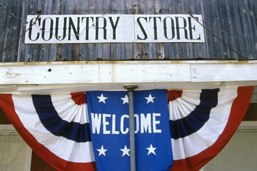 Stock Photo: 1486-4722 Close-up of a welcome sign at a store, Texas, USA