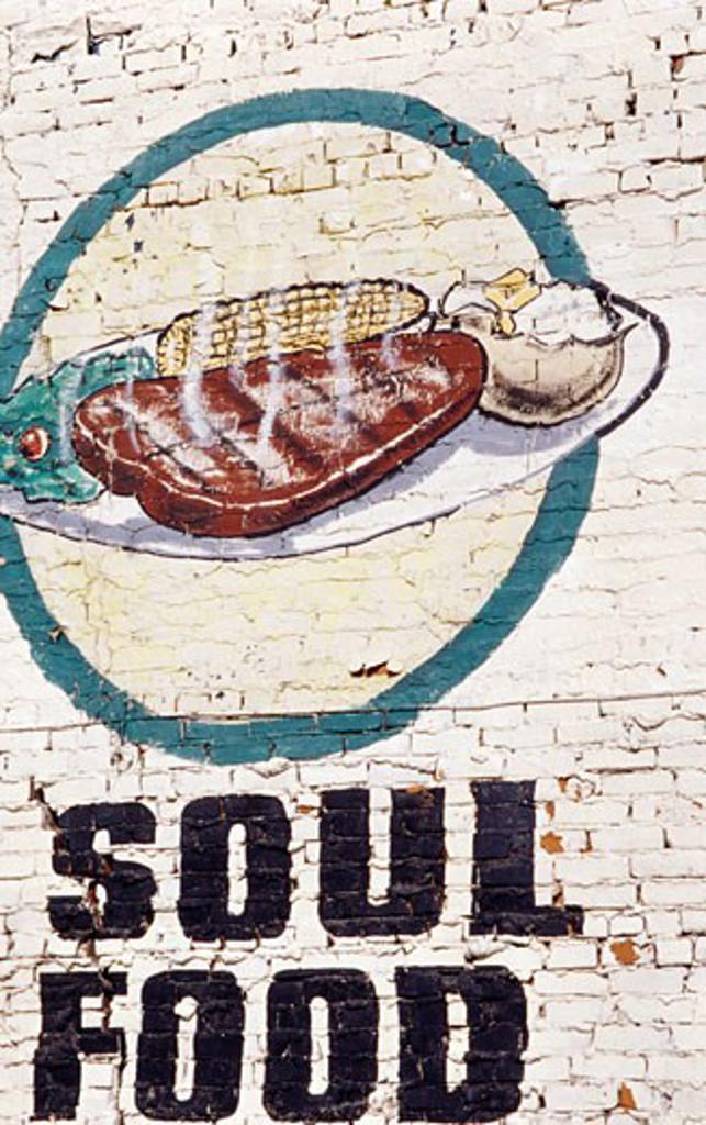 Stock Photo: 1486-489 Mural on a wall, Detroit, Michigan, USA