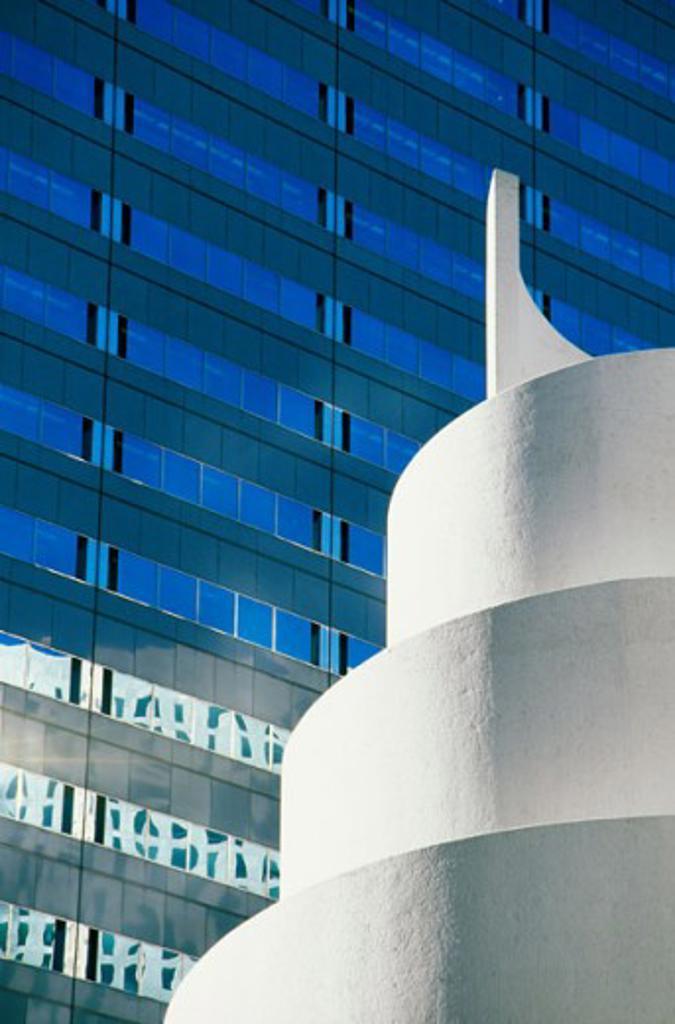 Stock Photo: 1486-4938 Glass facade of a building, Dallas, Texas, USA