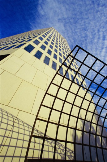 Stock Photo: 1486-4947 Low angle view of an office building, Belo Tower, Dallas, Texas, USA