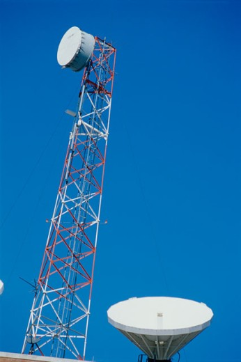 Stock Photo: 1486-5023 Low angle view of a communications tower