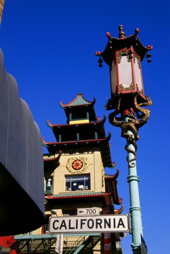 Stock Photo: 1486-5070 Street lamp, Chinatown, San Francisco, California, USA