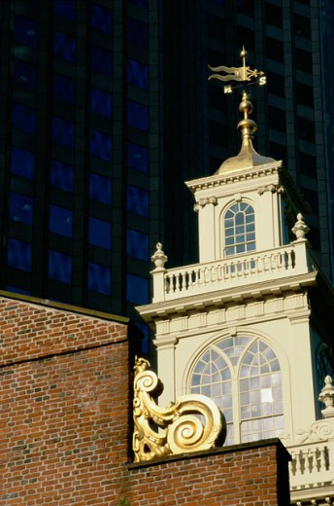 Stock Photo: 1486-5081 Old State House Boston Massachusetts, USA