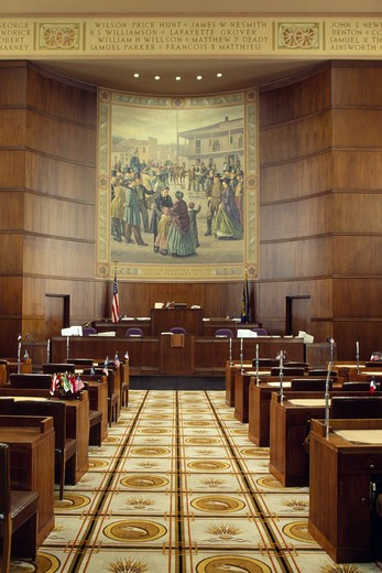 USA, Oregon, Salem, State Capitol, Senate Chambers : Stock Photo