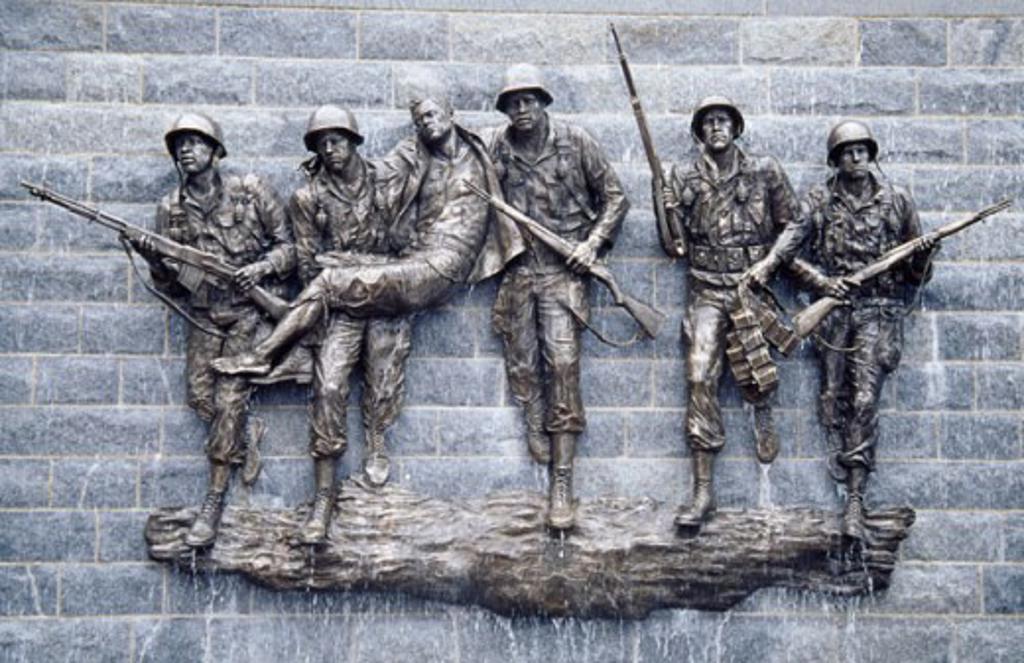 Stock Photo: 1486-5249 Korean War Memorial Atlantic City New Jersey, USA
