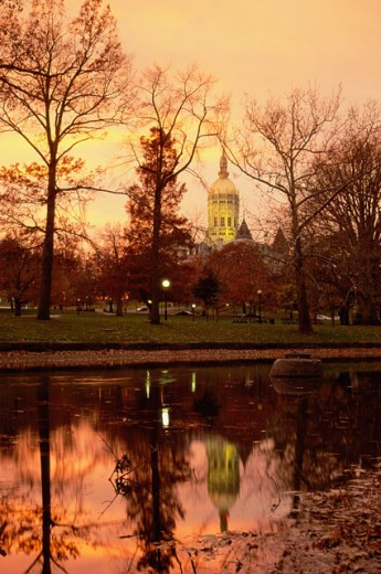 Bushnell Park, State Capitol, Hartford, Connecticut, USA : Stock Photo