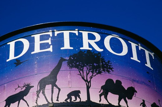 Low angle view of a water tower, Detroit Zoo, Detroit, Michigan, USA : Stock Photo