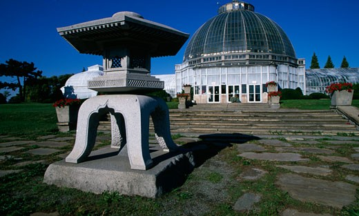 Stock Photo: 1486-536 Conservatory in a park, Whitcomb Conservatory, Belle Isle Park, Detroit, Michigan, USA