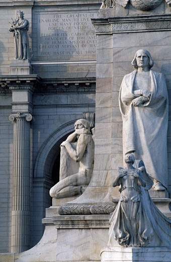 Statues at a railroad station, Union Station, Washington DC, USA : Stock Photo