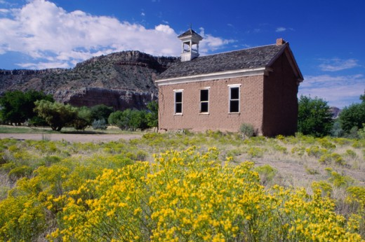 Stock Photo: 1486-5597 An abandoned building, Grafton Ghost Town, Rockville, Utah, USA