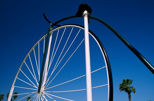 Stock Photo: 1486-5811 Close-up of a Penny farthing bicycle, Santa Barbara, California, USA