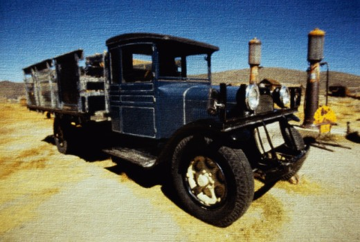 Stock Photo: 1486-5969 Old truck at Bodie State Historic Park, California, USA