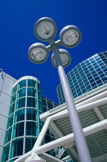 Low angle view of the Convention Center, Los Angeles, California, USA : Stock Photo