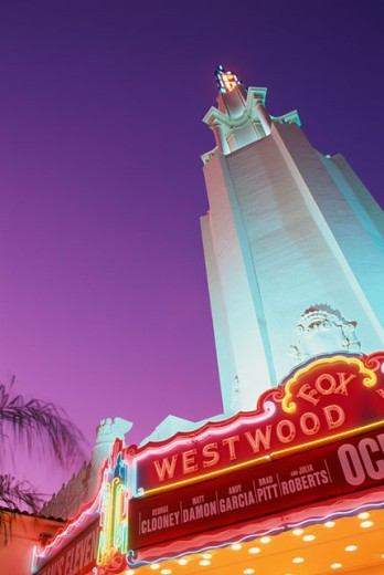 Stock Photo: 1486-6113 Low angle view of the Fox Westwood Village Theater, Los Angeles, California, USA