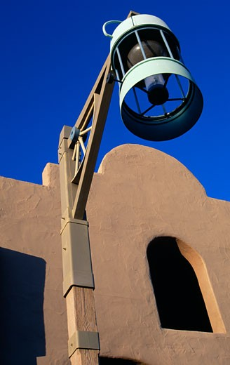 Street light in front of a building, Scottsdale, Arizona, USA : Stock Photo