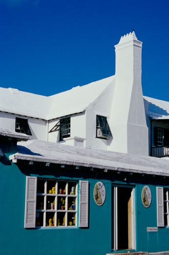 Stock Photo: 1486-636 Facade of a house, St. George, Bermuda
