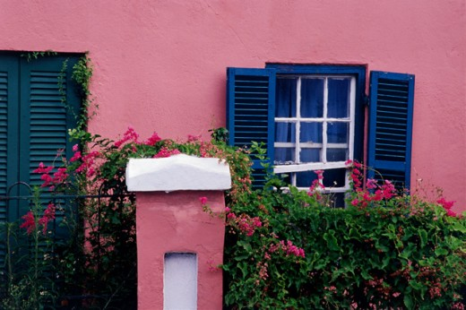 Stock Photo: 1486-638 Facade of a house, St. George, Bermuda