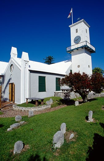 Stock Photo: 1486-654 Low angle view of a church, St. Peter's Church, St. George, Bermuda