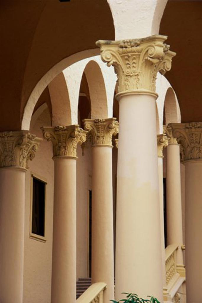 Columns at the Biltmore Hotel, Coral Gables, Florida, USA : Stock Photo