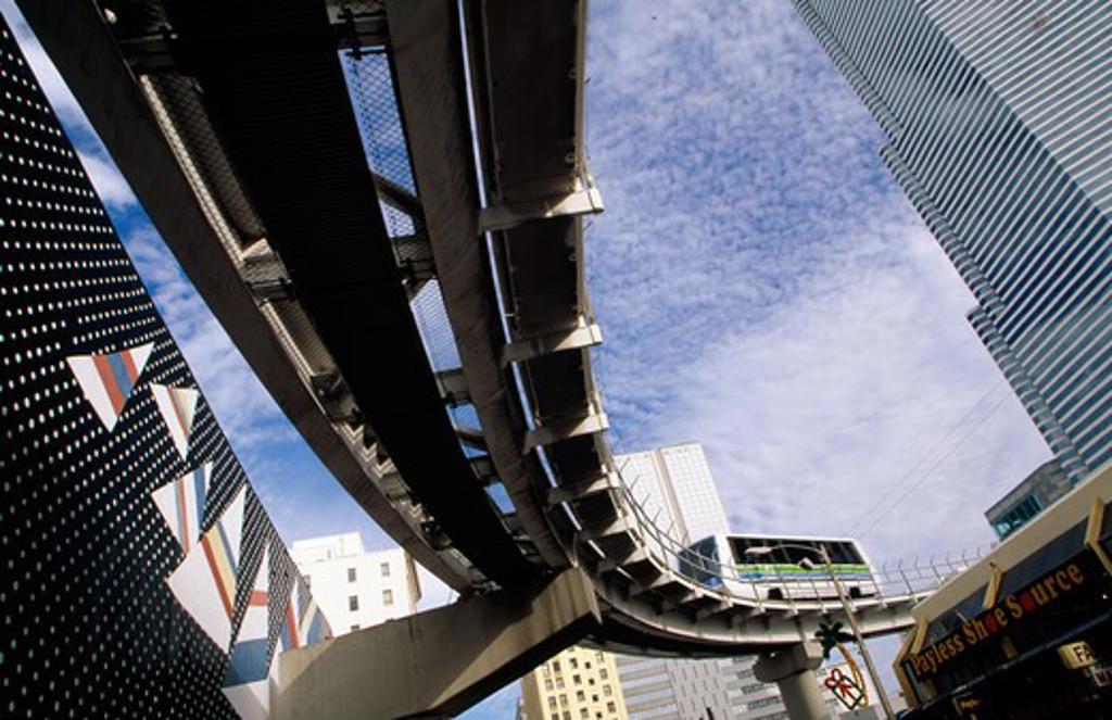 USA, Florida, Miami, low angle view of bridge : Stock Photo