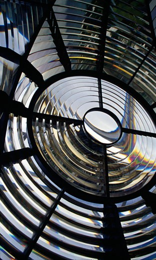 Stock Photo: 1486-704 Lens in a lighthouse, Gibbs Hill Lighthouse, Gibbs Hill, Bermuda