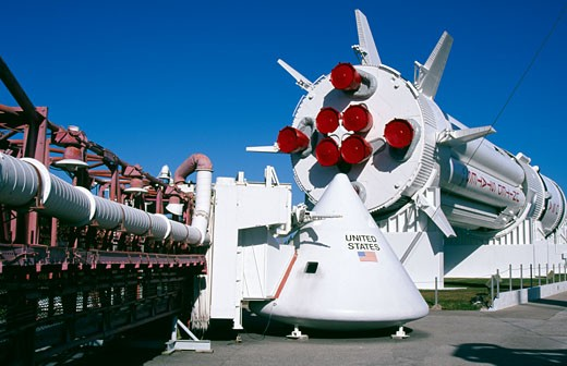 Space shuttle at the space center, NASA Kennedy Space Center, Cape Canaveral, Florida, USA : Stock Photo