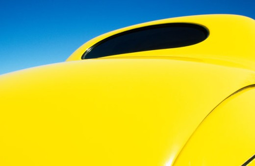 Stock Photo: 1486-7305 Rear view of an antique car