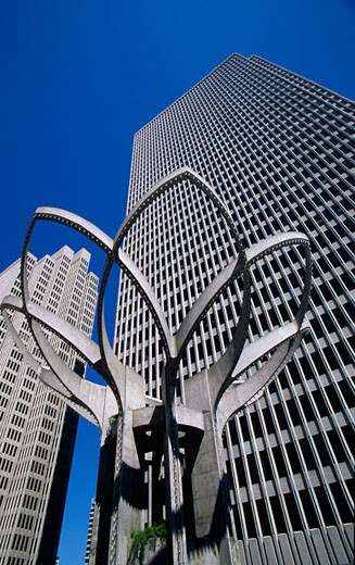 Stock Photo: 1486-7622 Low angle view of office buildings, San Francisco, California, USA