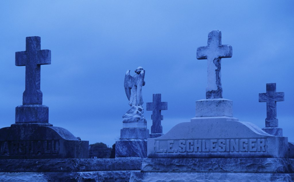 Stock Photo: 1486-8041 Metairie Cemetery New Orleans Louisiana, USA