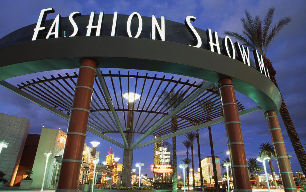 Fashion Show Mall Las Vegas Nevada USA : Stock Photo