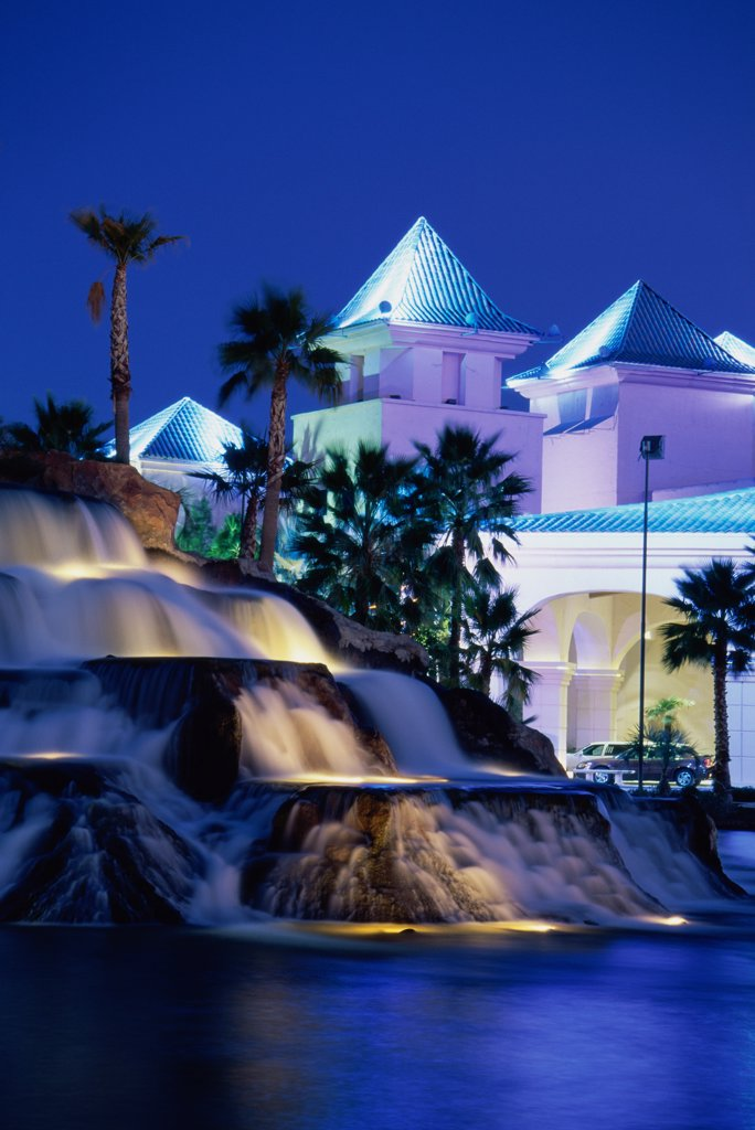 Waterfalls at Casablanca Resort and Casino, Mesquite, Nevada, USA : Stock Photo