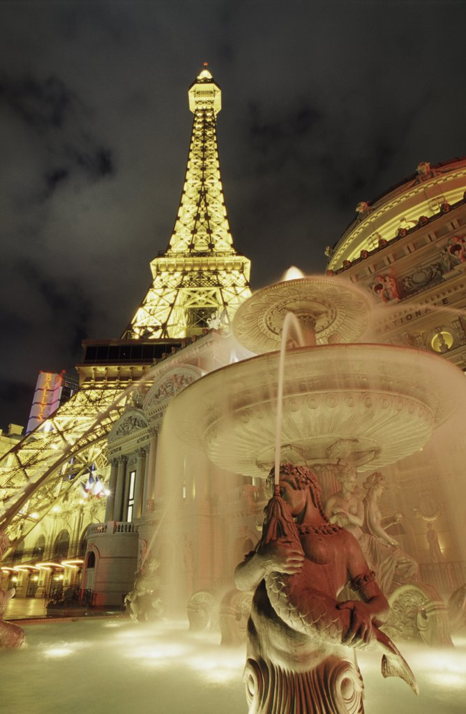Paris Las Vegas Hotel and Casino Las Vegas Nevada USA : Stock Photo