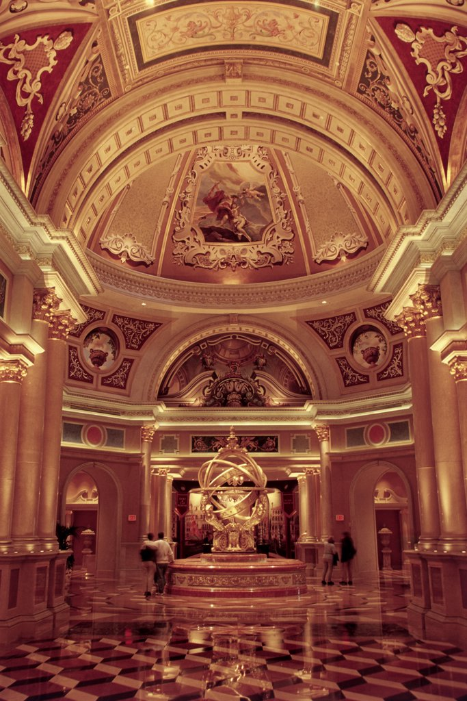 Interior of a hotel, Venetian Resort Hotel and Casino, Las Vegas, Nevada, USA : Stock Photo