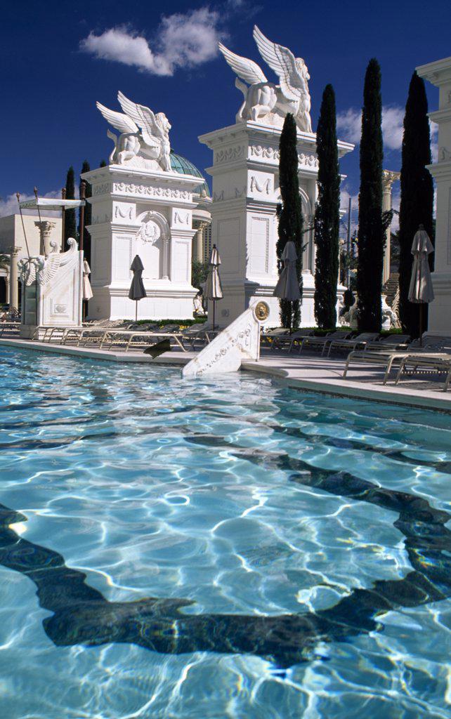 Stock Photo: 1486-8330 Caesars Palace Hotel and Casino Las Vegas Nevada USA