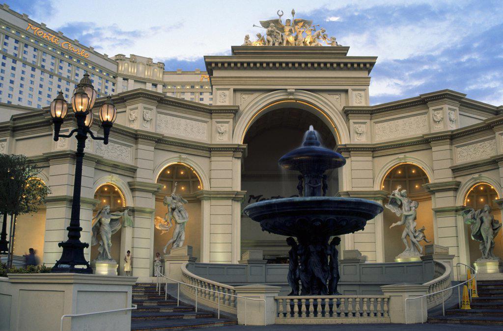 Monte Carlo Resort and Casino Las Vegas Nevada USA : Stock Photo