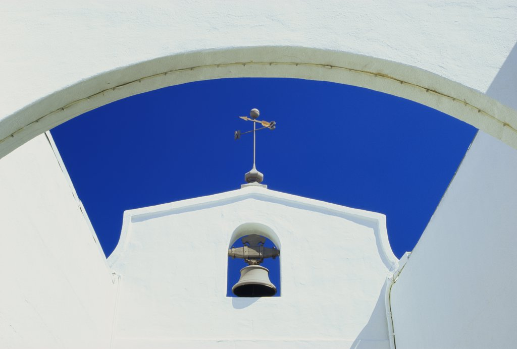 Stock Photo: 1486-8412 Bell on a wall, San Diego, California, USA