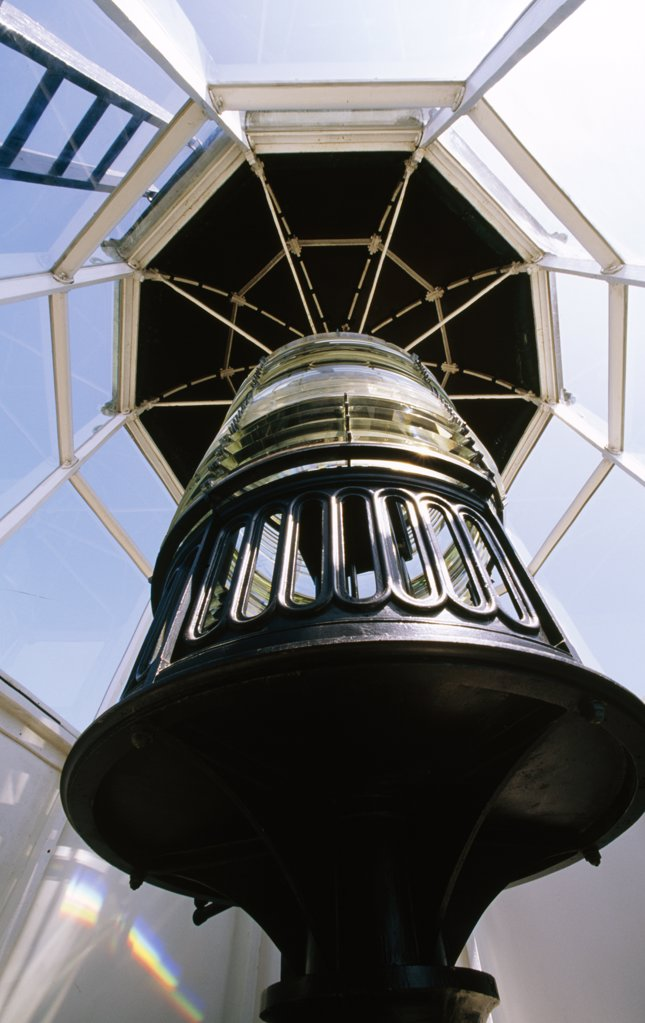 USA, California, Cabrillo National Monument, Old Point Loma Lighthouse, beacon, close-up : Stock Photo